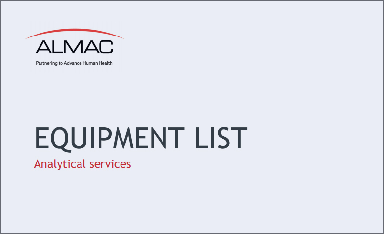 Analytical Services Equipment List