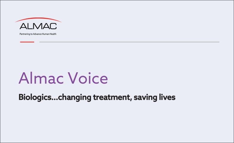 Biologics...changing treatment, saving lives Biologics