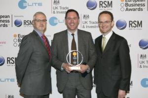 Almac Winner European Business Awards UK Trade and Investment Winner