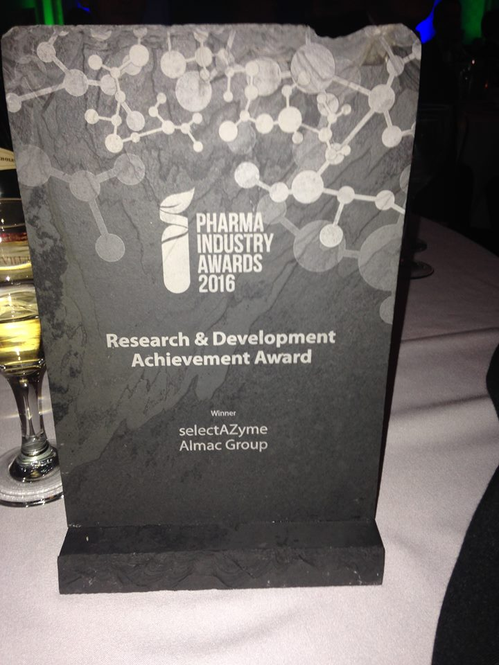 Almac Group Wins Prestigious Research and Development Award